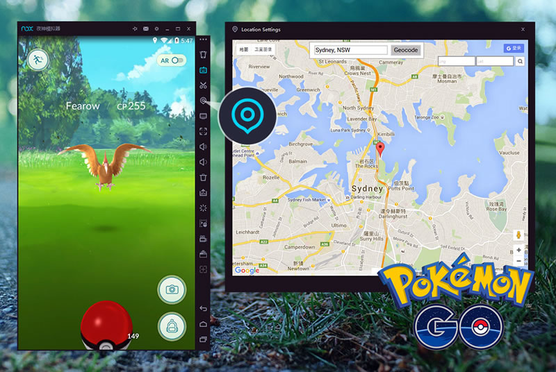 Play Pokemon Go on PC Emulator fake GPS