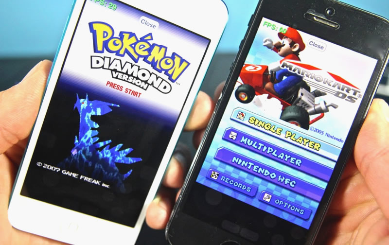 Pokemon DS and GAMEBOY games on iPhone and Android