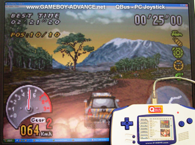Playing V-Rally GBA ROM