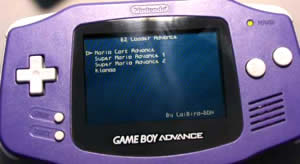 gameboy advance flash card menu